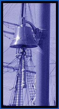 Ship's bell with lanyard